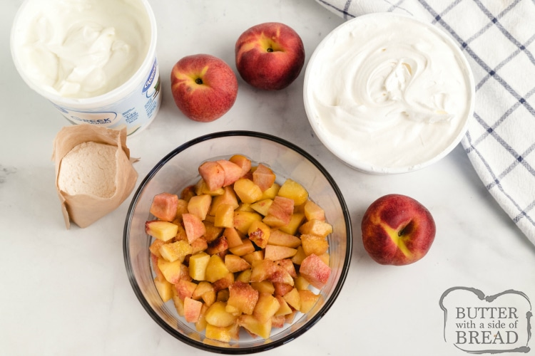 Ingredients in Peach Fruit Salad
