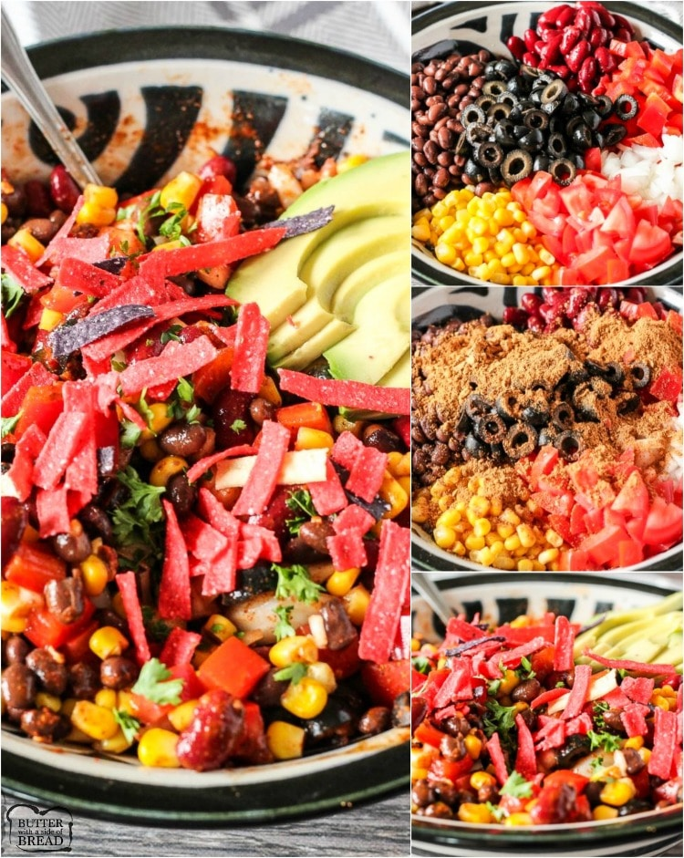 vegetarian taco salad that you can make ahead