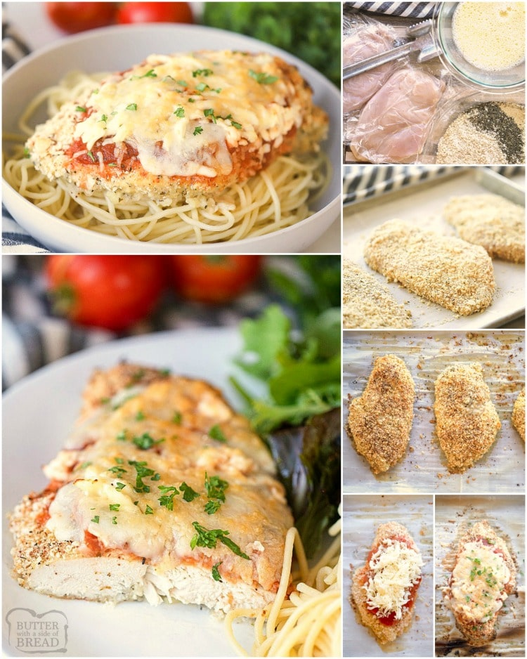 how to make baked chicken parmesan recipe