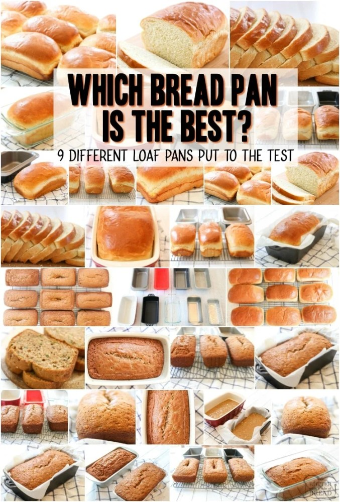 Loaf Pan comparison to see which pan bakes the best bread. 9 different bread pans put to the test with white bread and zucchini bread to see which is the best loaf pan.