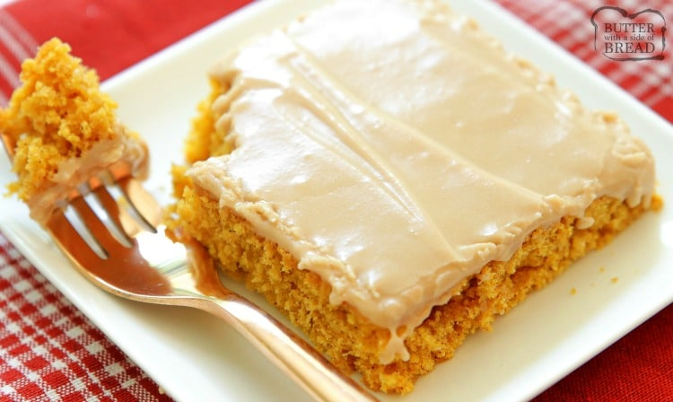 Maple Iced Pumpkin Bars are soft, sweet dessert bars loaded with Fall flavors. These easy baked spiced pumpkin bars are covered with a cream cheese maple icing that tastes heavenly!