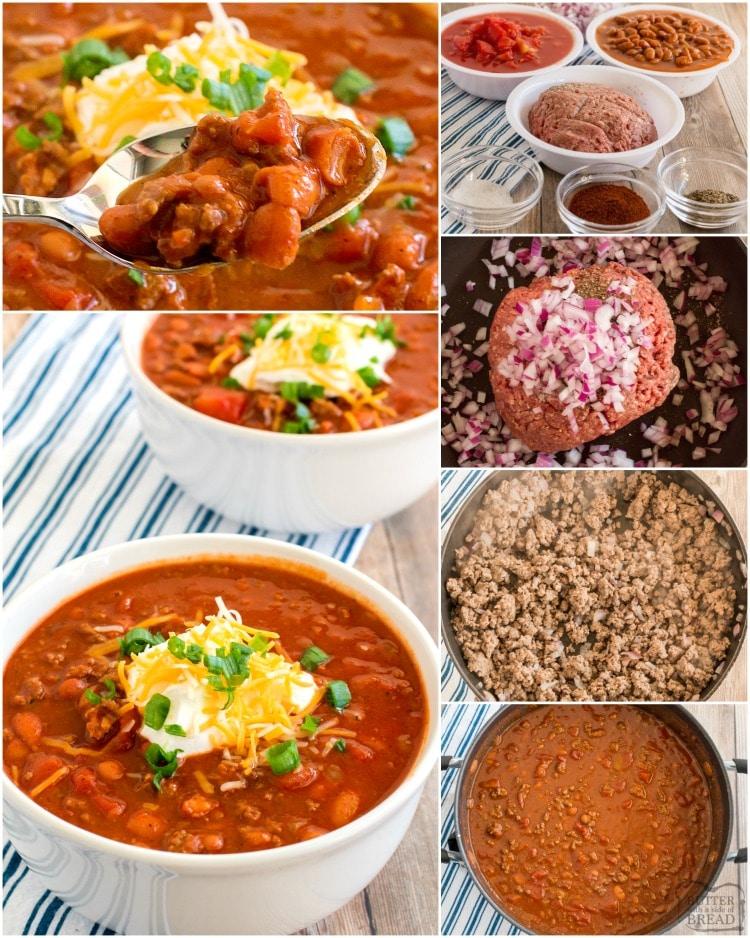 how to make easy chili recipe