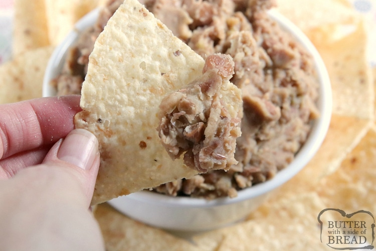 Bean dip with chips