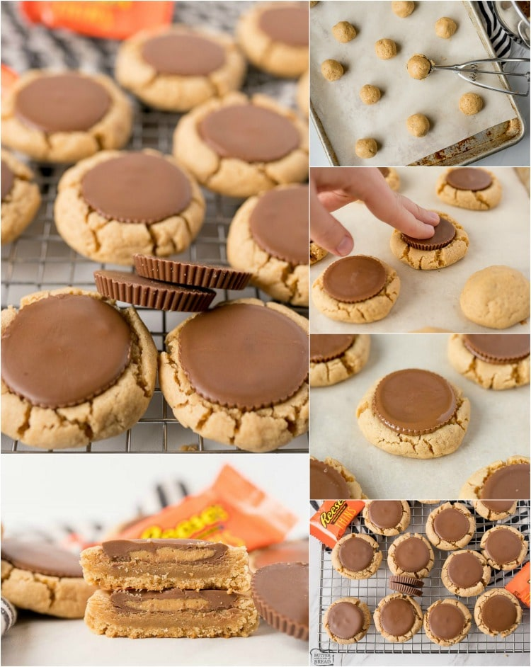Reese's Peanut Butter Cup Cookies are a mega soft and chewy peanut butter cookie, baked and then topped with a Peanut Butter Cup straight out of the oven! Perfect peanut butter cookie  for all Peanut Butter and Chocolate lovers!