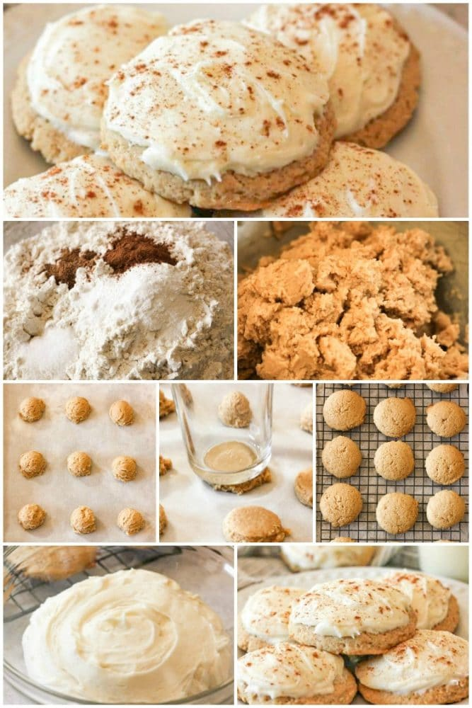 How to make frosted eggnog cookies