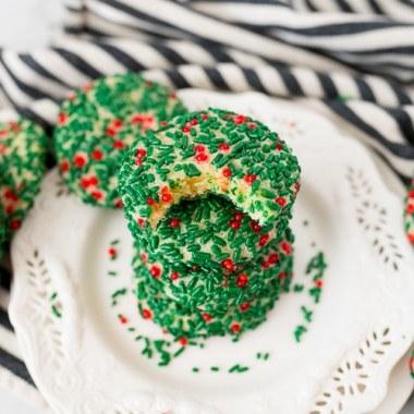 sugar cookies with sprinkles on it