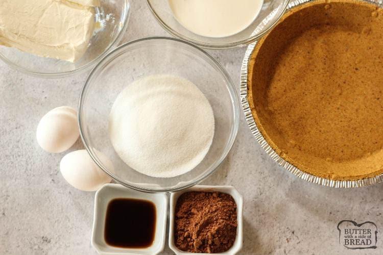 ingredients needed to make cherry chocolate cream cheese pie recipe