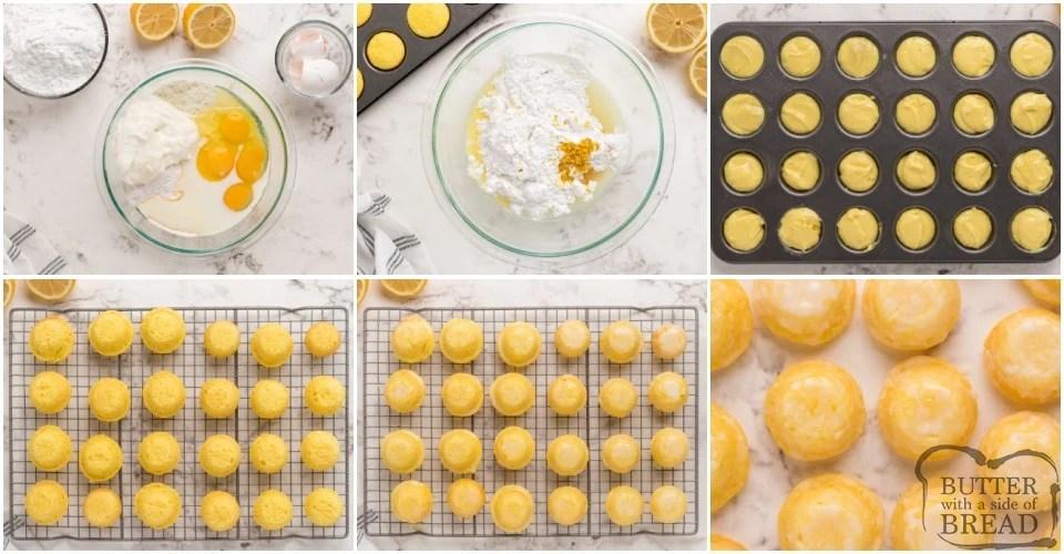 How to make Mini Lemon Drop Cupcakes