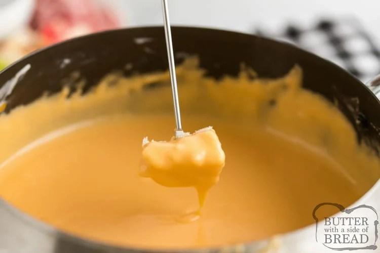 Simple cheese fondue recipe with bread