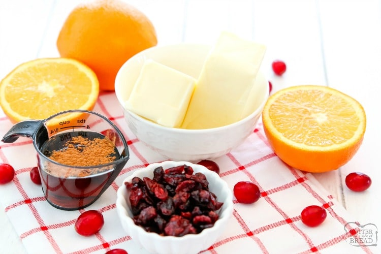 ingredients for best cranberry orange butter