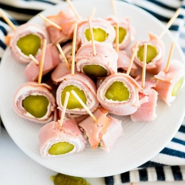 ham pickle roll ups