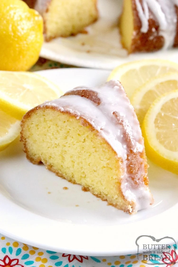 Easy Lemon Cake is made with only 4 ingredients and topped with a simple lemon glaze. There is lemon-lime soda in the cake and the glaze, making this easy lemon cake a light and refreshing dessert!