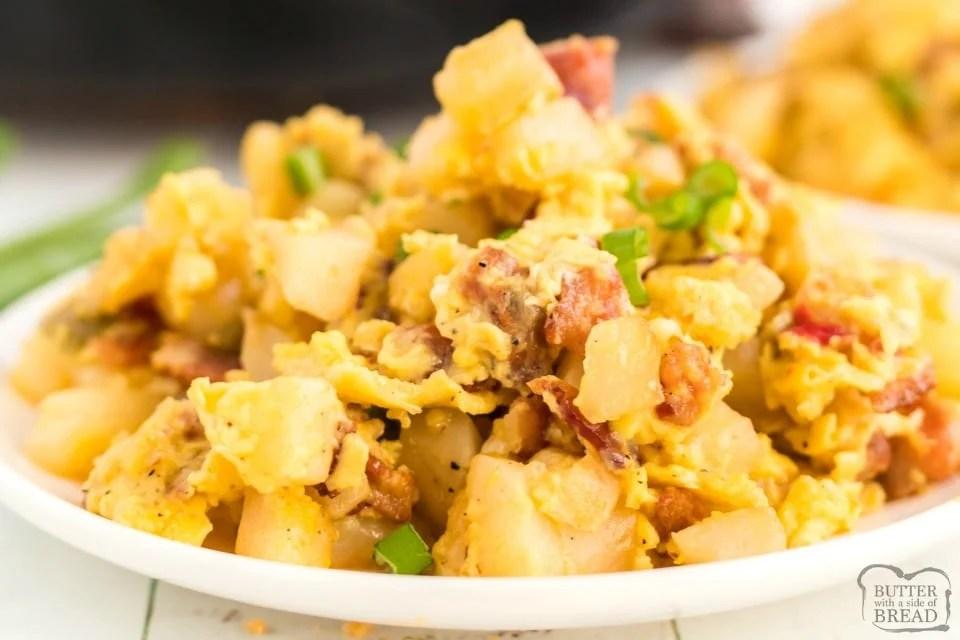 Easy Bacon Breakfast Scramble