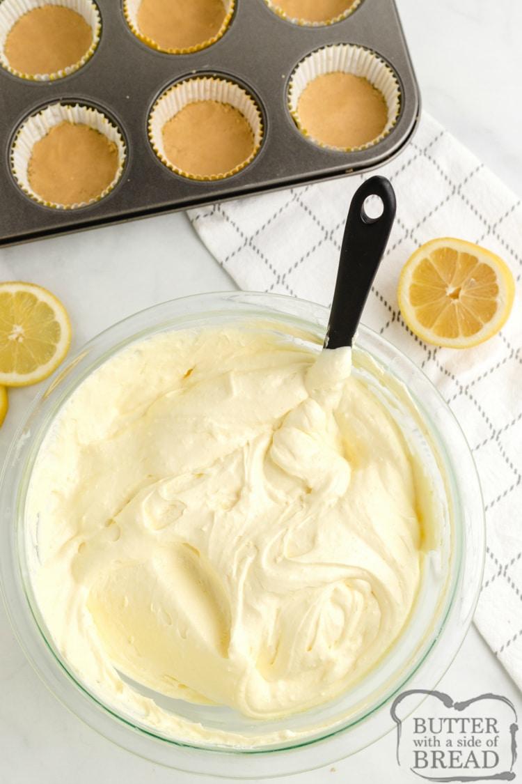 How to make no bake mini lemon cheesecakes