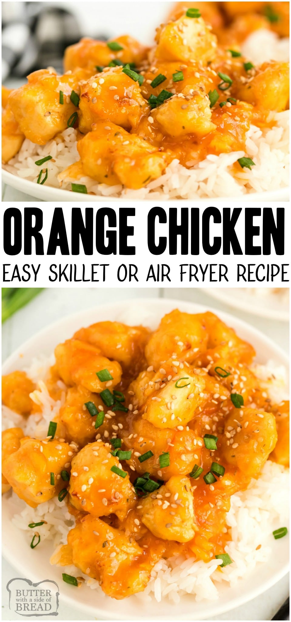 Homemade Orange Chicken made with a sweet & savory orange sauce and tender breaded chicken. This orange chicken recipe with orange marmalade is simple and perfect alongside white rice! #chicken #dinner #orange #asianrecipe #orangechicken #easyrecipe #chickendinner from BUTTER WITH A SIDE OF BREAD