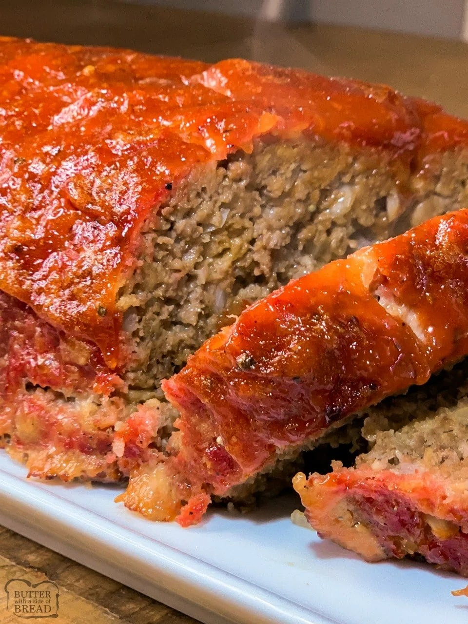 Easy Smoked Meatloaf Butter With A Side Of Bread