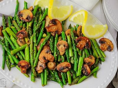 Sesame Mushrooms & Asparagus recipe