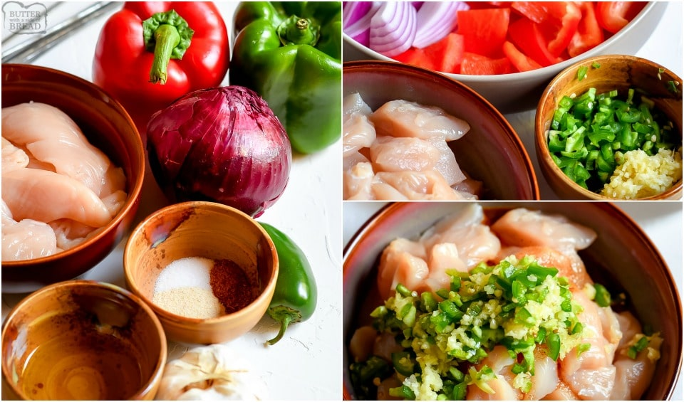 How to make Grilled Fajita Chicken Kabobs recipe