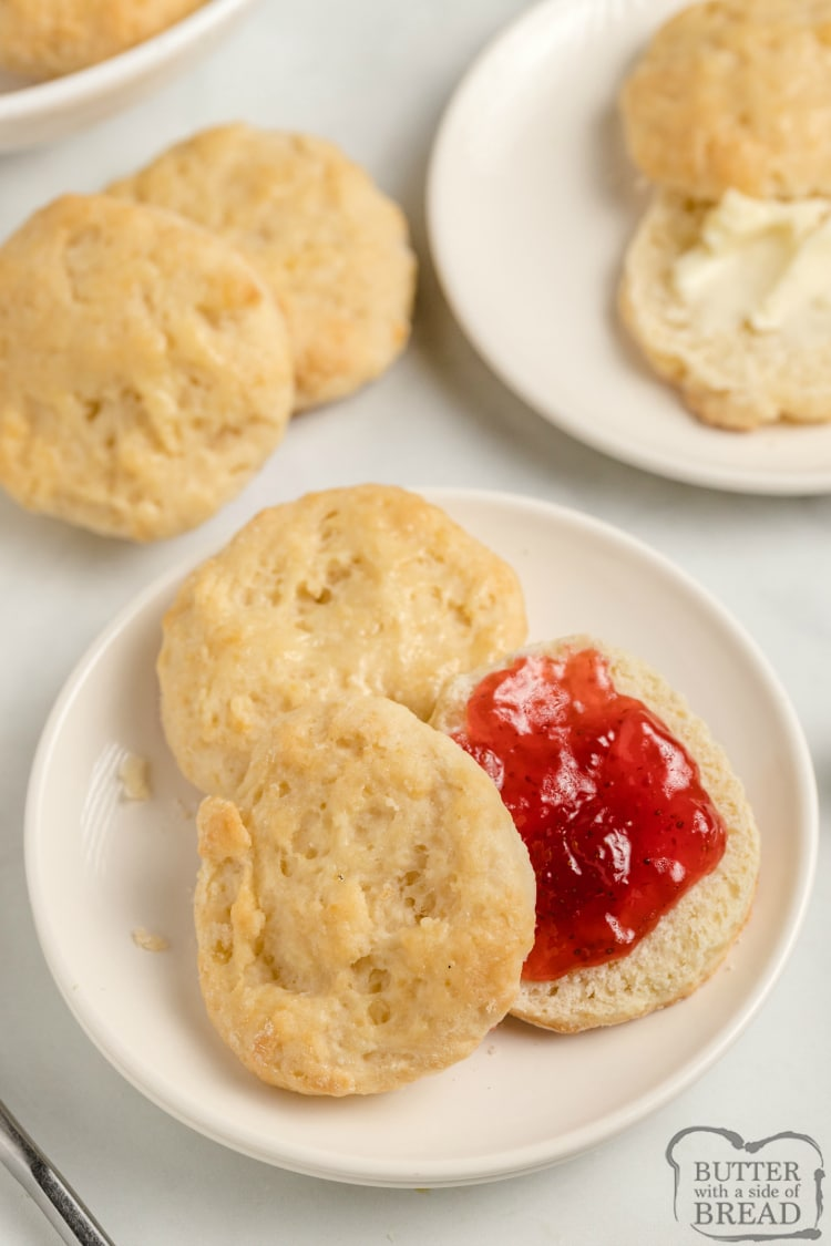 Homemade biscuits made with 7-Up