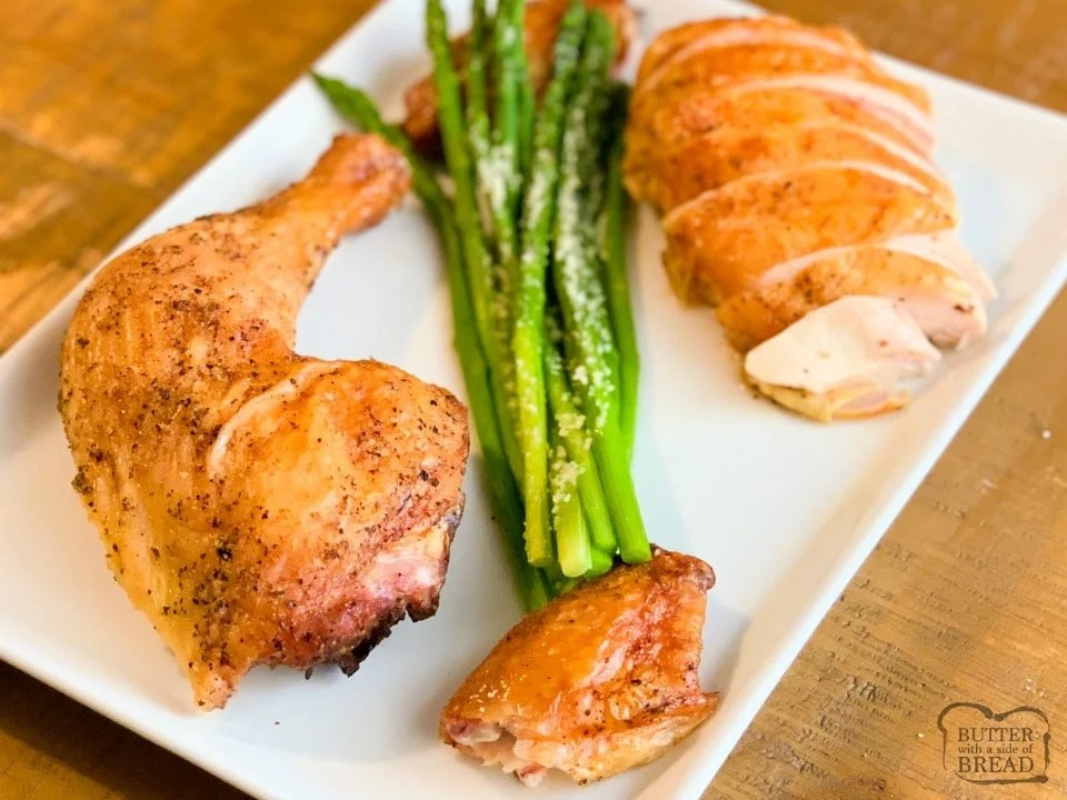 Stick of Butter Smoked Whole Chicken