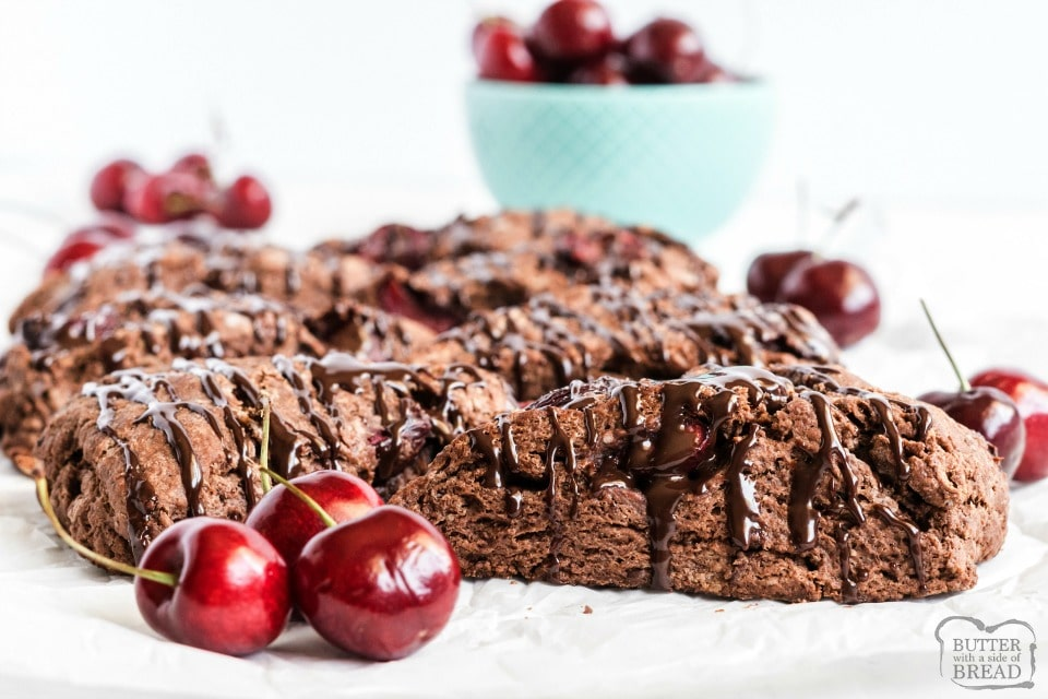 Homemade Cherry Chocolate Scones recipe