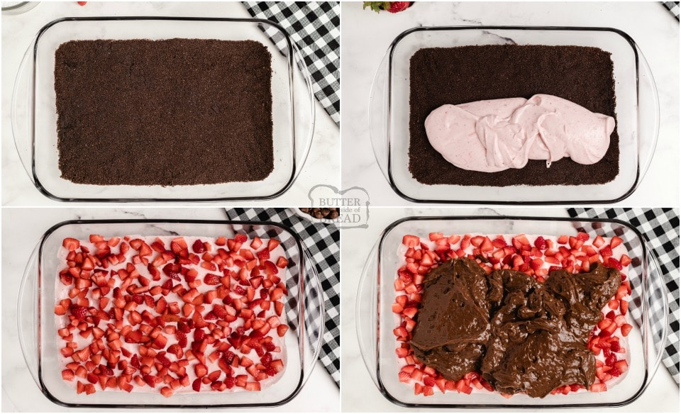 How to make No-Bake Chocolate Strawberry Dessert Lasagna