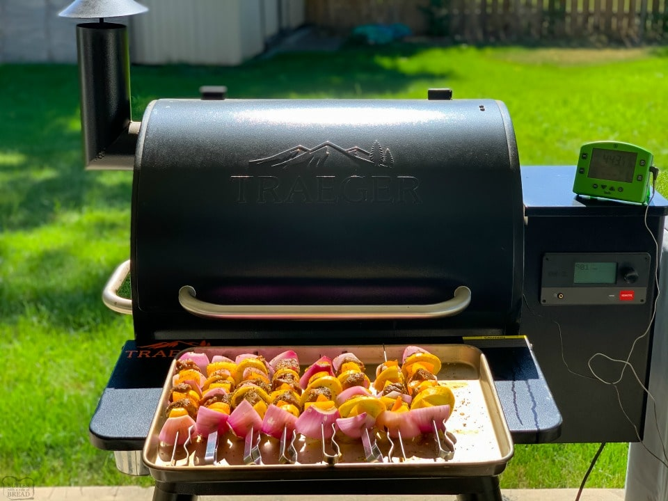 How to make Marinated Grilled Steak Kabobs on a Traeger
