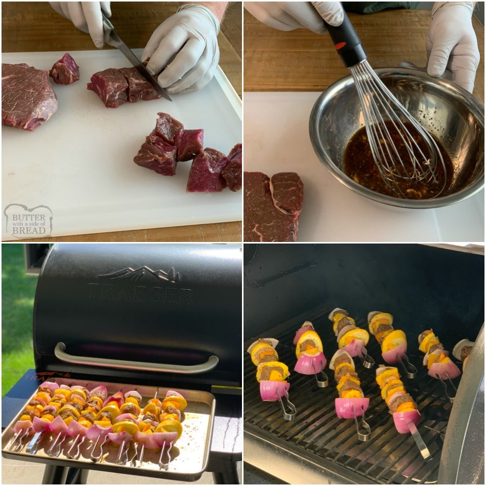 How to make Marinated Grilled Steak Kabobs