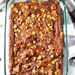 Easy Reese's Chocolate Dump cake recipe