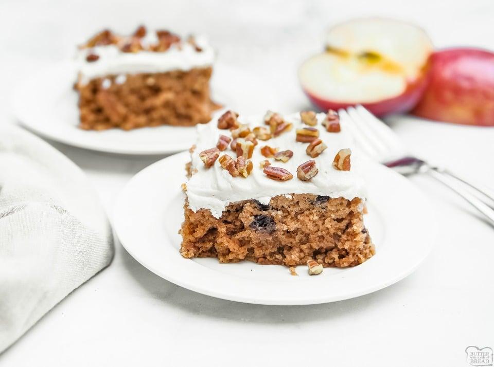 Frosted Cinnamon Applesauce Cake recipe