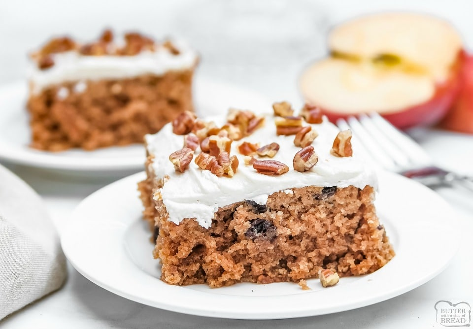 Frosted Cinnamon Applesauce Cake recipe