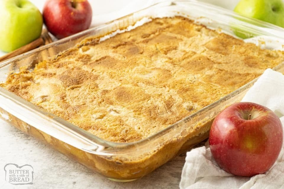 pan of apple dump cake