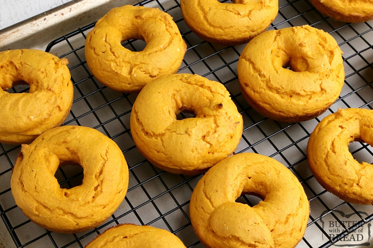 Baked pumpkin donuts made with 3 ingredients