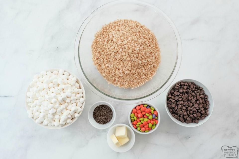 Easy Halloween Rice Krispie Treats recipe ingredients