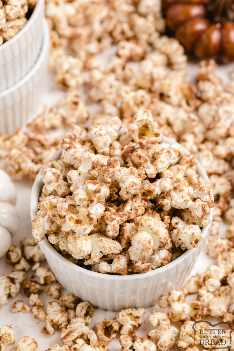 Maple popcorn topping