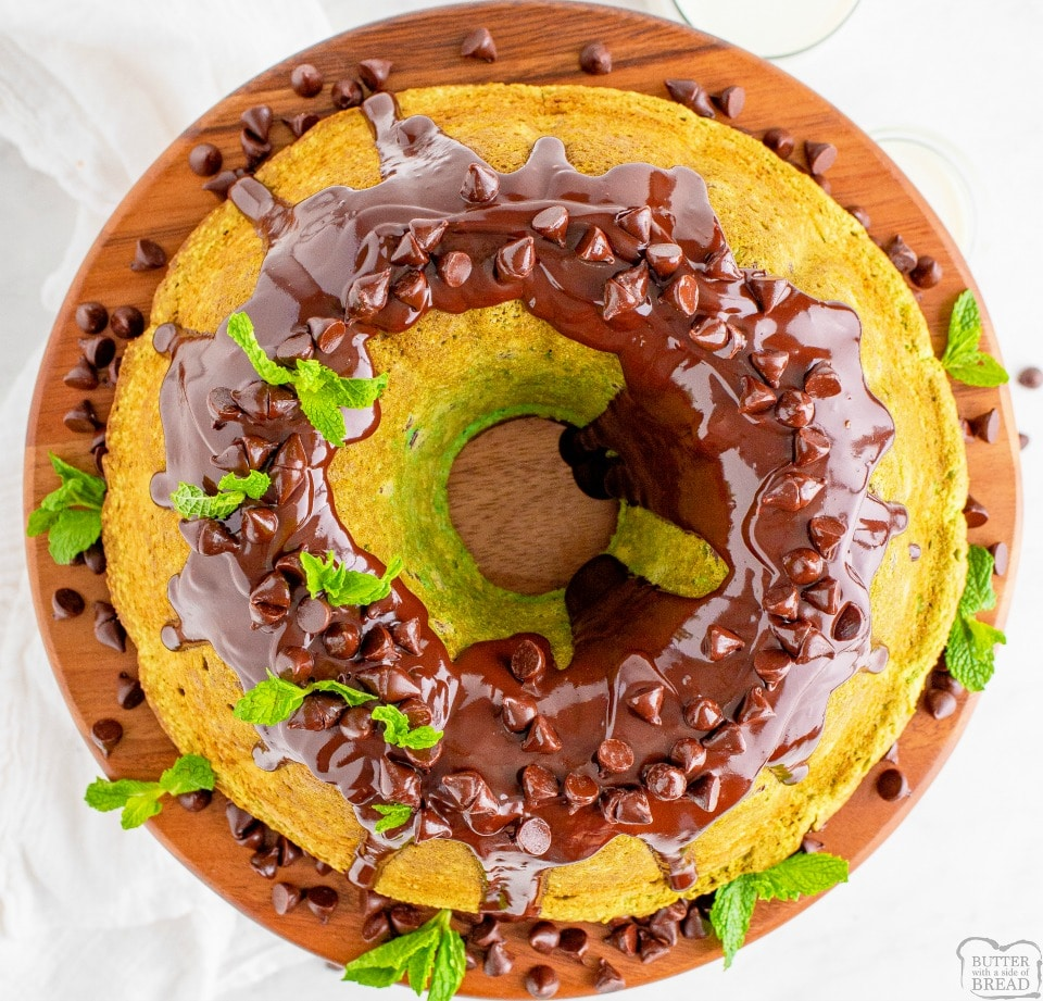 Mint Chocolate Chip Bundt Cake recipe