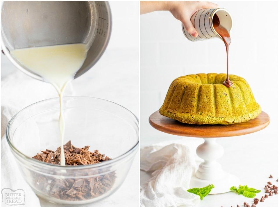 how to make a Mint Chocolate Chip Bundt Cake recipe