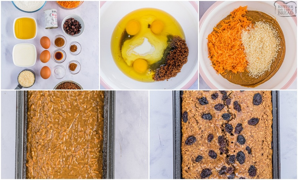 how to make Easy Homemade Carrot Cake Bread