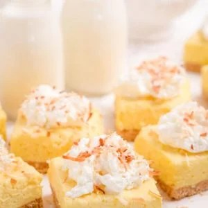 Easy No Bake Coconut cheesecake Bars recipe