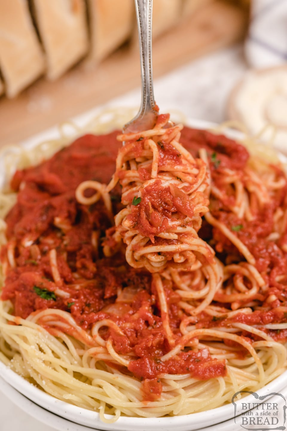 Crockpot Spaghetti Sauce made with a delicious blend of spices and tomatoes. Best homemade spaghetti sauce recipe that is simmered for hours in a slow cooker to achieve the perfect flavor.