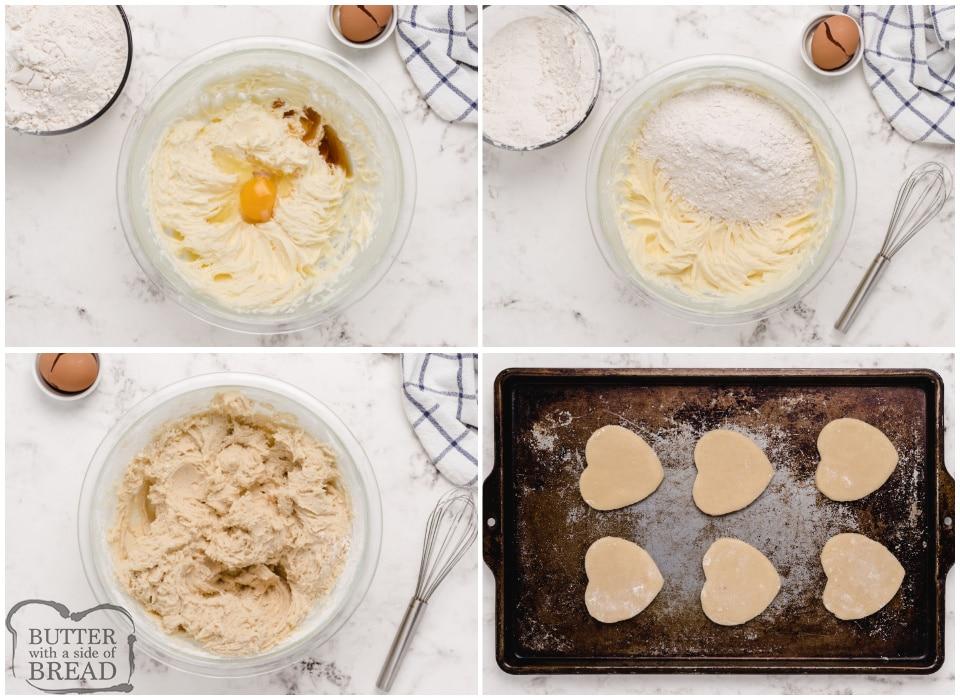 How to make heart shaped sugar cookies