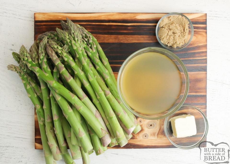 Ingredients in Sugared Asparagus recipe