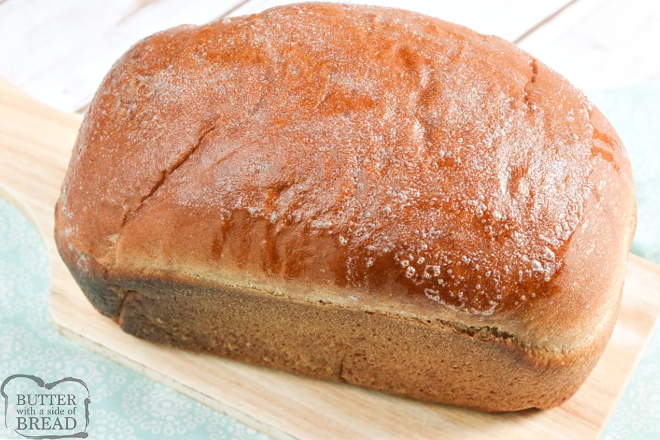 Loaf of freshly homemade wheat bread