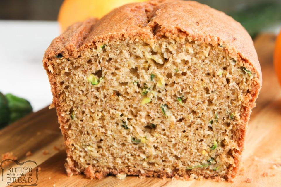 Orange Zucchini Bread combines a classic zucchini bread recipe with a ton of orange flavor, all in one delicious quick bread recipe!