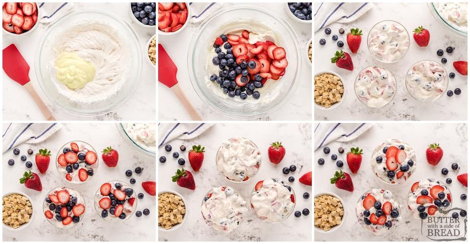 Step by step instructions on how to make Lemon Berry Yogurt Parfaits