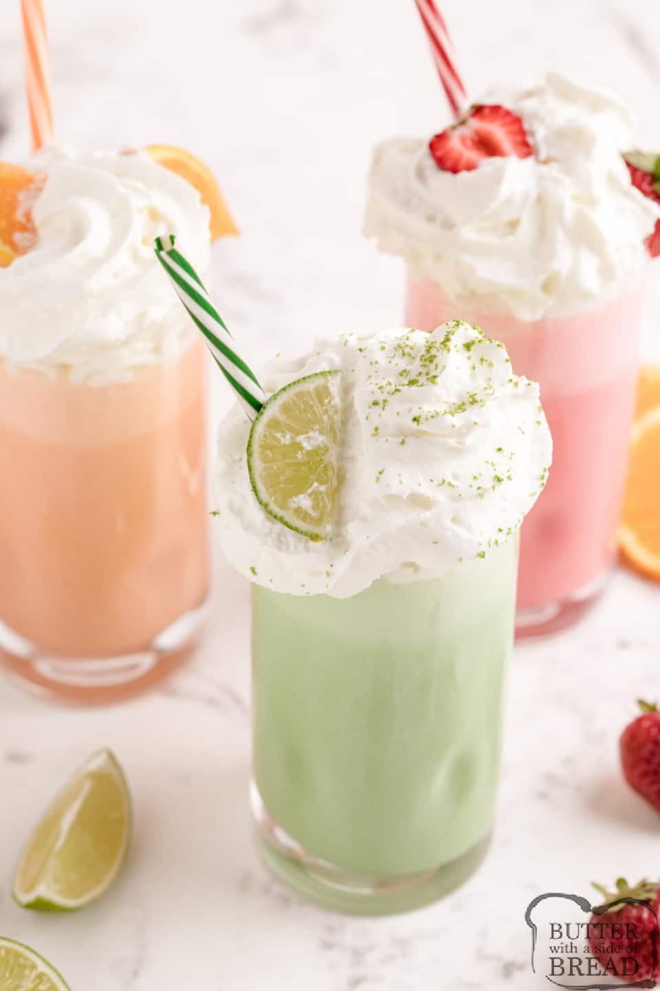 Easy Jello Milkshakes made with ice cream, milk and any flavor of Jello. Colorful and delicious homemade milkshake recipe that the whole family will enjoy!