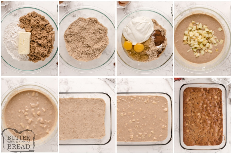 Step by step instructions on how to make Sour Cream Apple Pie Bars