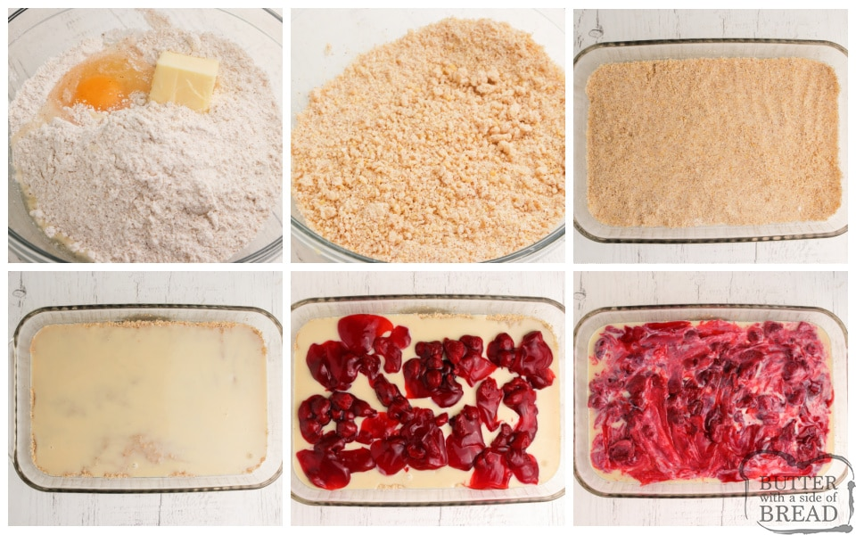 Step by step instructions on how to make Strawberry Banana Bars