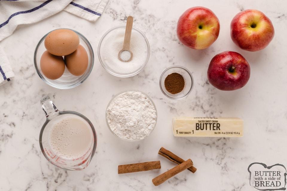 Ingredients in Apple German Pancake