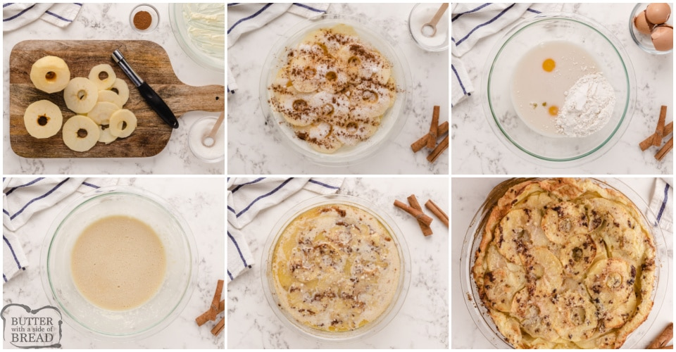 Step by step instructions on how to make Apple German Pancake